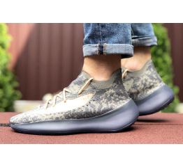 Купить Мужские кроссовки Adidas Yeezy Boost 380 серые с бежевым в Украине