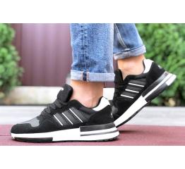 Купить Мужские кроссовки Adidas ZX 500 RM черные с белым