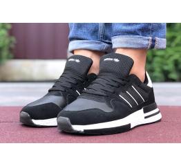 Купить Чоловічі кросівки Adidas ZX 500 RM чорні з білим в Украине