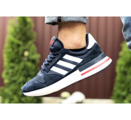 Купить Мужские кроссовки Adidas Zx 500 RM темно-синие в Украине