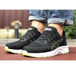 Мужские кроссовки Asics S600 черные с зеленым
