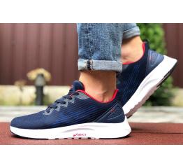 Мужские кроссовки Asics S600 темно-синие с белым и красным