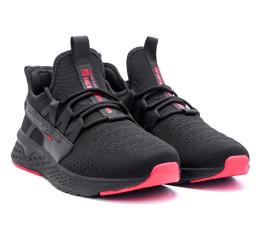 Купить Мужские кроссовки BaaS Trend System черные с красным (black-red) в Украине