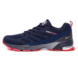 Купить Мужские кроссовки BaaS Trend System темно-синие с красным (dk-blue-red)