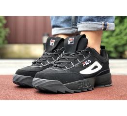 Мужские кроссовки Fila Disruptor 2 Premium черные с белым