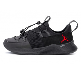 Купить Мужские кроссовки Jordan черные с красным (black-red)