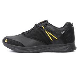 Мужские кроссовки Merrell черные (black-yellow)