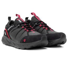 Мужские кроссовки Merrell черные с красным (black-red)
