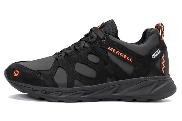 Мужские кроссовки Merrell черные с оранжевым (black-orange)