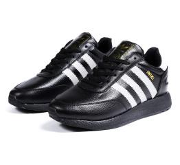 Купить Мужские кроссовки на меху Adidas Iniki Runner черные с белым