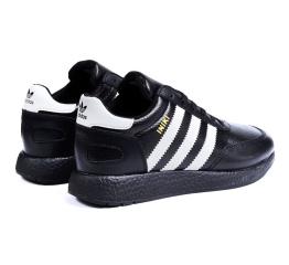 Купить Мужские кроссовки на меху Adidas Iniki Runner черные с белым в Украине