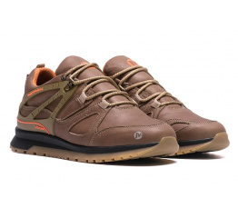 Купить Мужские кроссовки на меху Merrell коричневые в Украине
