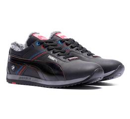 Купить Мужские кроссовки на меху Puma BMW Motorsport Fur черные в Украине