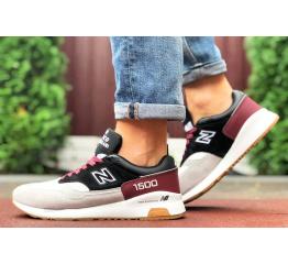 Купить Чоловічі кросівки New Balance 1500 сірі з чорним и бордовым