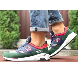 Купить Мужские кроссовки New Balance 1500 темно-синие с зеленым