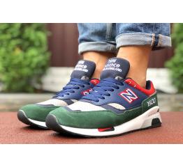 Купить Чоловічі кросівки New Balance 1500 темно-сині з зеленим в Украине