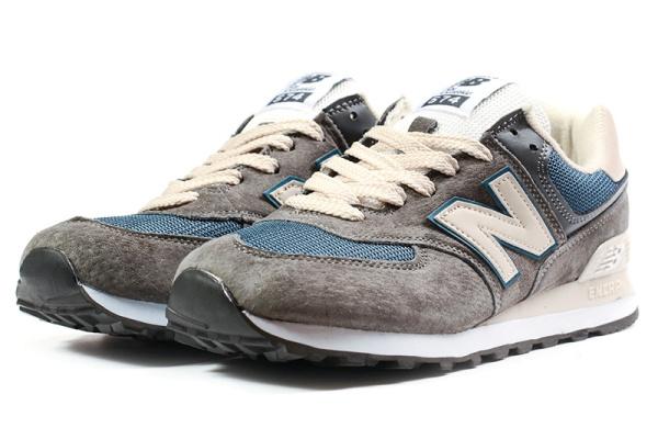 Мужские кроссовки New Balance 574 темно-серые