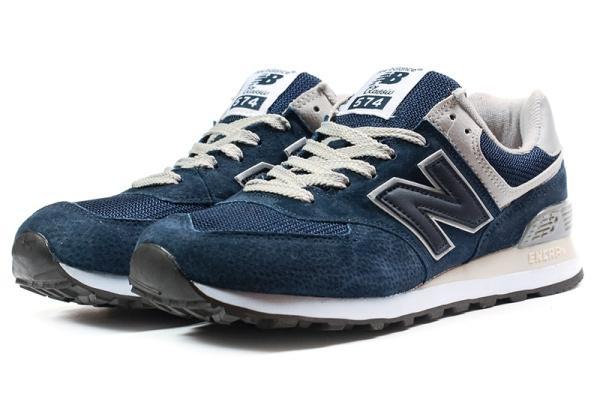 Мужские кроссовки New Balance 574 темно-синие