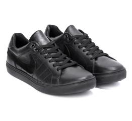 Мужские кроссовки Nike Air черные (black-leather)