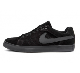 Мужские кроссовки Nike Air черные (black-suede)