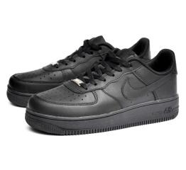 Купить Мужские кроссовки Nike Air Force 1 черные (black)