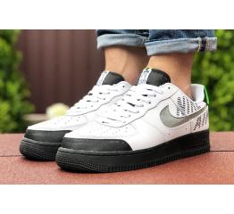 Купить Мужские кроссовки Nike Air Force 1 low белые с черным