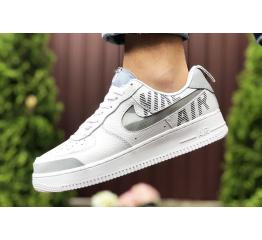 Купить Мужские кроссовки Nike Air Force 1 low белые с серым в Украине