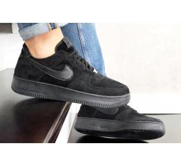 Купить Мужские кроссовки Nike Air Force 1 Low черные (black/suede) в Украине