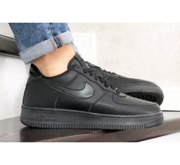 Купить Мужские кроссовки Nike Air Force 1 Low черные (mono-black)