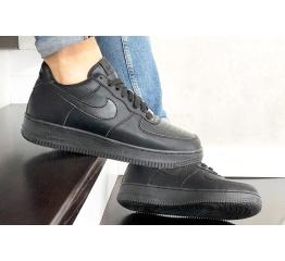 Купить Мужские кроссовки Nike Air Force 1 Low черные (mono-black) в Украине