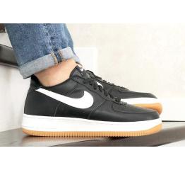 Купить Мужские кроссовки Nike Air Force 1 Low черные с белым (black/white/gum)