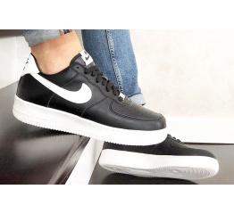 Купить Мужские кроссовки Nike Air Force 1 Low черные с белым (black/white) в Украине