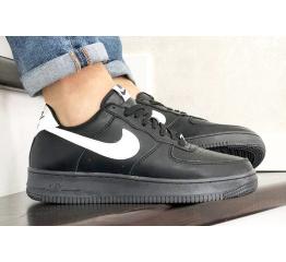 Купить Мужские кроссовки Nike Air Force 1 Low черные с белым (black/white)