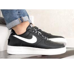 Купить Мужские кроссовки Nike Air Force 1 Low NBA черные с белым (black/white)