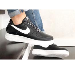 Купить Мужские кроссовки Nike Air Force 1 Low NBA черные с белым (black/white) в Украине