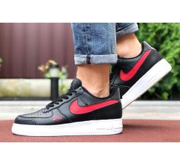 Купить Мужские кроссовки Nike Air Force 1 Low черные с красным