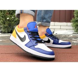 Купить Мужские кроссовки Nike Air Jordan 1 Retro Low белые с желтым в Украине