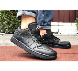 Купить Мужские кроссовки Nike Air Jordan 1 Retro Low черные в Украине