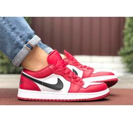 Купить Мужские кроссовки Nike Air Jordan 1 Retro Low красные с белым