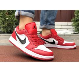 Купить Мужские кроссовки Nike Air Jordan 1 Retro Low красные с белым в Украине