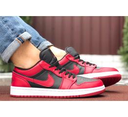 Купить Мужские кроссовки Nike Air Jordan 1 Retro Low красные с черным