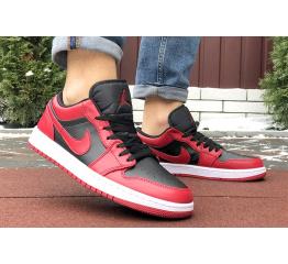 Купить Чоловічі кросівки Nike Air Jordan 1 Retro Low червоні з чорним в Украине