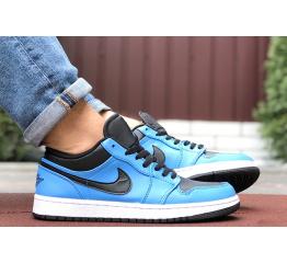 Купить Мужские кроссовки Nike Air Jordan 1 Retro Low синие с черным