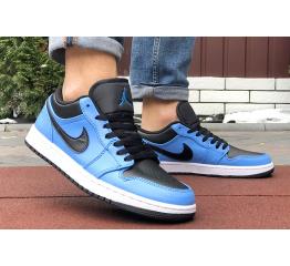 Купить Мужские кроссовки Nike Air Jordan 1 Retro Low синие с черным в Украине