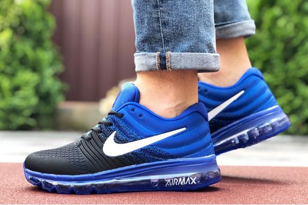 Мужские кроссовки Nike Air Max 2017 синие с черным