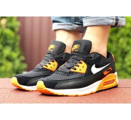 Купить Мужские кроссовки Nike Air Max 90 черные с оранжевым