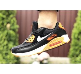 Купить Мужские кроссовки Nike Air Max 90 черные с оранжевым в Украине