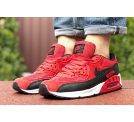 Купить Мужские кроссовки Nike Air Max 90 красные с черным