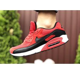 Купить Мужские кроссовки Nike Air Max 90 красные с черным в Украине