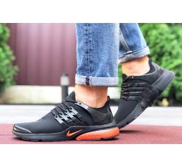 Мужские кроссовки Nike Air Presto черные с оранжевым